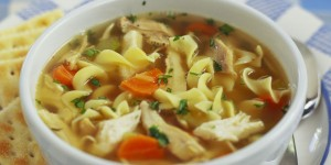 Noodles With Chicken Soup